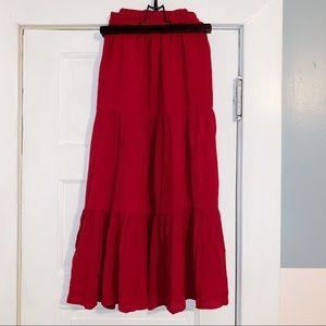 + Size Maxi Skirt
